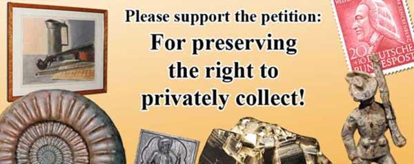 Internationaler Aufruf an alle Sammler von Kultur- und Naturgut – bitte unterzeichnet die Petition